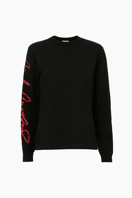 RE/DONE Cindy Crawford Beefy long sleeve Graphic Tee - BLACK