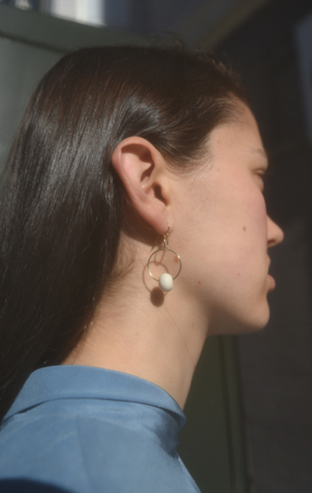 Permanent Collection Blunk Double Hoop Earrings