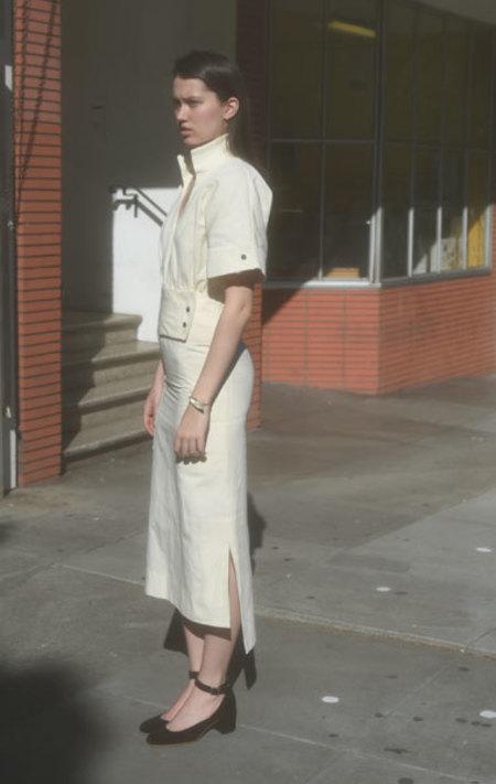 Wanda Nylon Svetlana Dress - Off White
