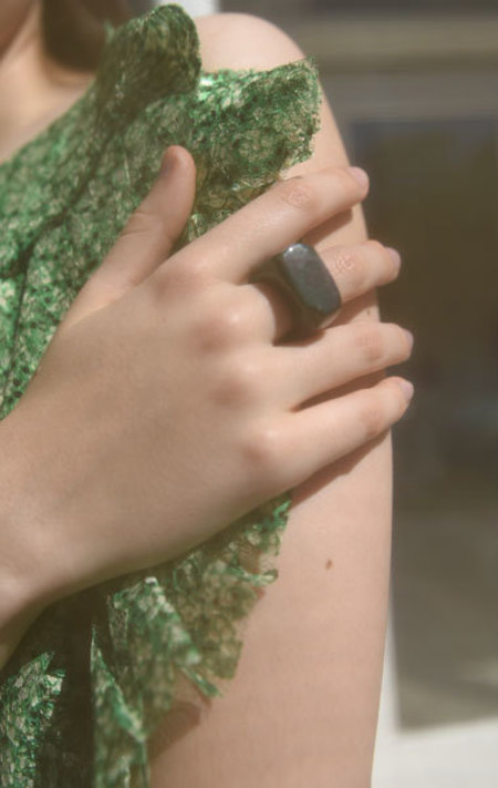 Kathleen Whitaker Jasper Ring - Size 8