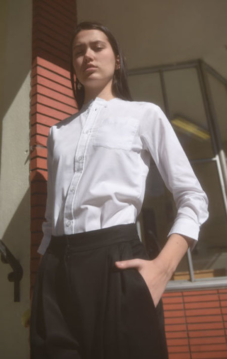 Slow and Steady Wins The Race Collarless Button-Up