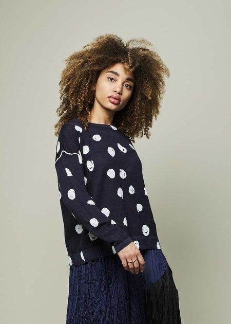Yoshi Kondo Topic Linen Blend Sweater - Navy