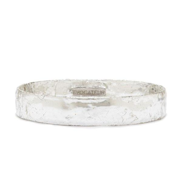 Evocateur Sterling Silver Leaf Bangle