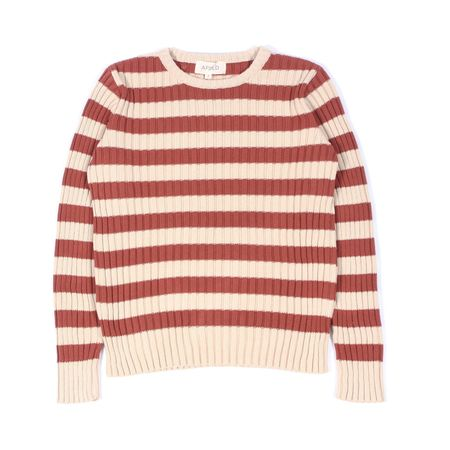 AFIELD RUBEN STRIPE CREW NECK