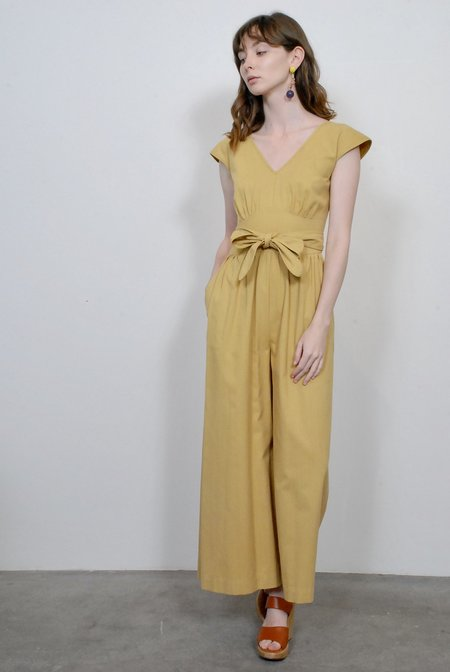 No.6 Diana Wrap Jumpsuit in Maize