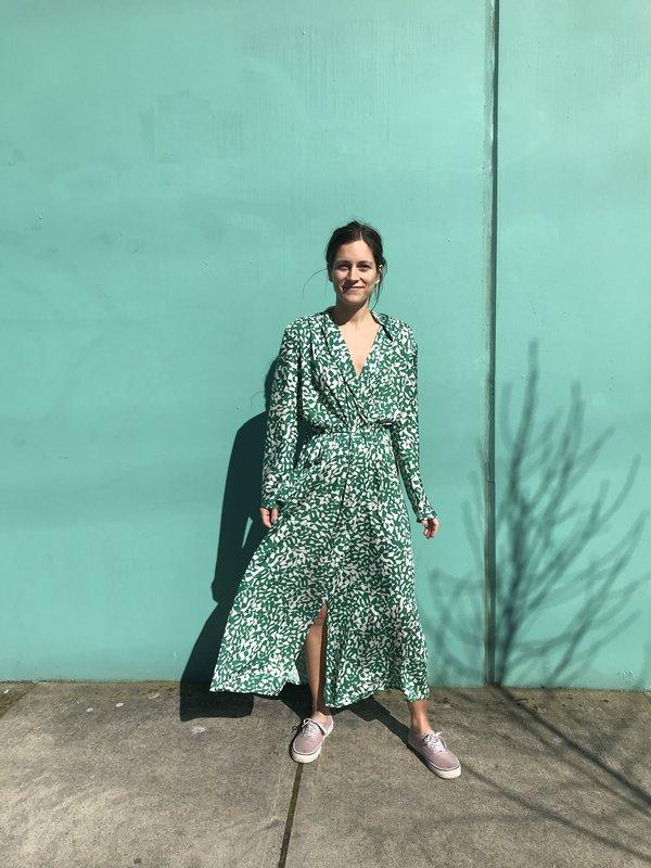 Nahanni Arntzen Robe dress - green/white