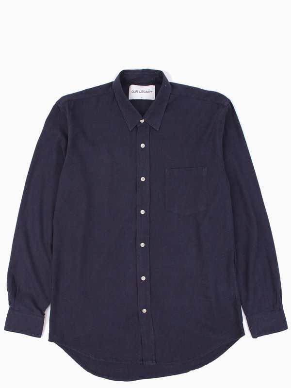 Our Legacy Classic Shirt Navy Silk