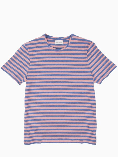 Oliver Spencer Conduit Tee - Capri Pink/Sky Blue