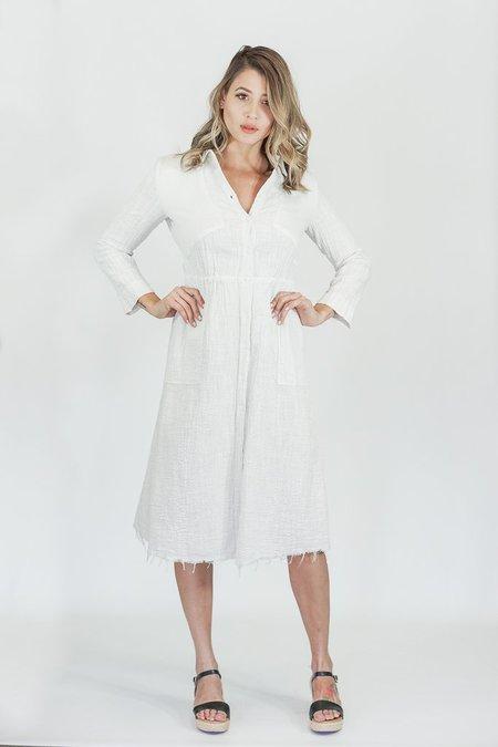 Raquel Allegra Safari Dress in Dirty White