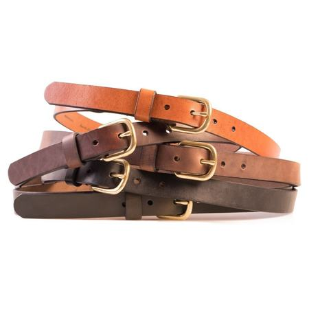 HELM Slim Belt - Brass Buckle