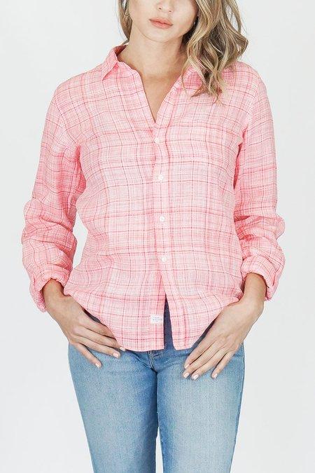 """Frank & Eileen """"Barry"""" Strawberry Plaid Linen Button Down Shirt"""