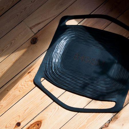 Bagism 1400 Stretch Laser Cut Medium Black Leather Bag