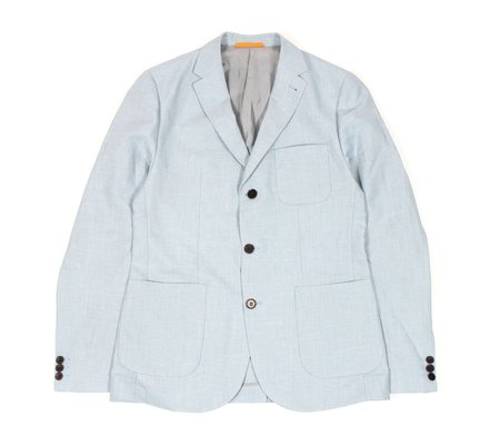Afield Denver 3-Button Jacket - Blue Linen