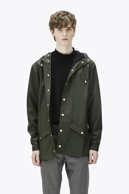 Unisex Rains Glossy Jacket - Green