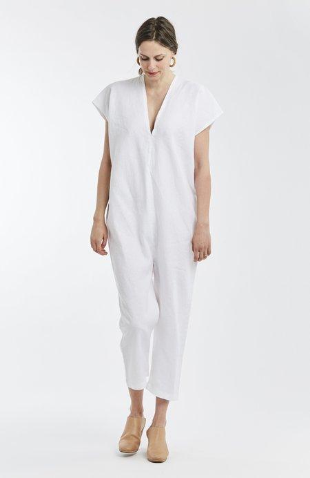 Miranda Bennett Extended Everyday Jumpsuit Linen in White