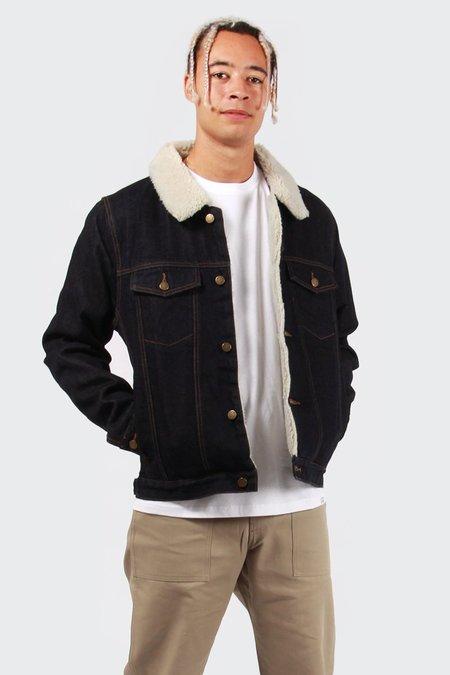 Rollas Denim Sherpa Jacket - Raw Indigo