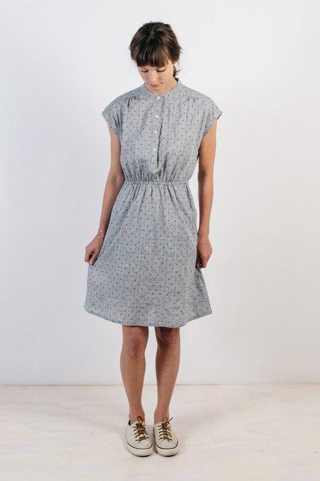 Bridge & Burn Lorane Textured Dress - Chambray Dot