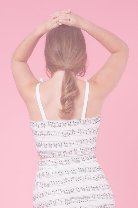 Samantha Pleet Chorus Tank - Music Note embroidery