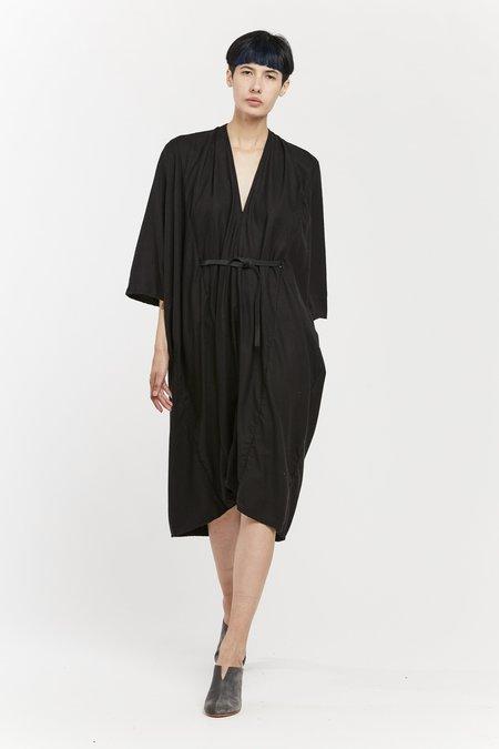 Miranda Bennett O'Keeffe Dress, Silk Noil in Black