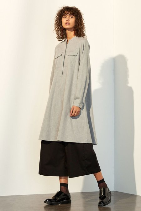 Kowtow Portrait Dress in Grey Melange