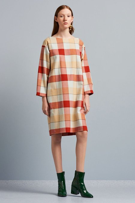 Kowtow Stance Dress in Check