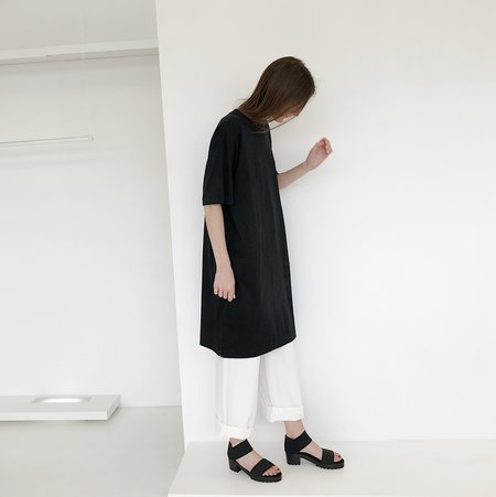 Tanaka Black T-Shirt Dress