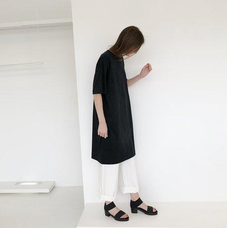 Unisex Tanaka T-shirt Dress - Black