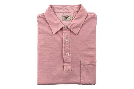 Faherty Brand Sunwashed Polo - Summer Pink