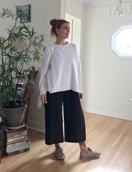 Lauren Manoogian Wide Crewneck in Optic White