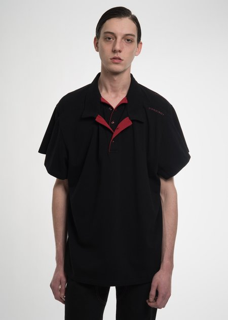 Y/project Black Double Layer Polo