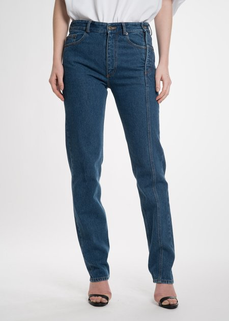 Y/project Navy Stonewash Multi Zips Jeans