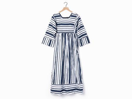 Ter et Bantine Striped Dress - Blue/White