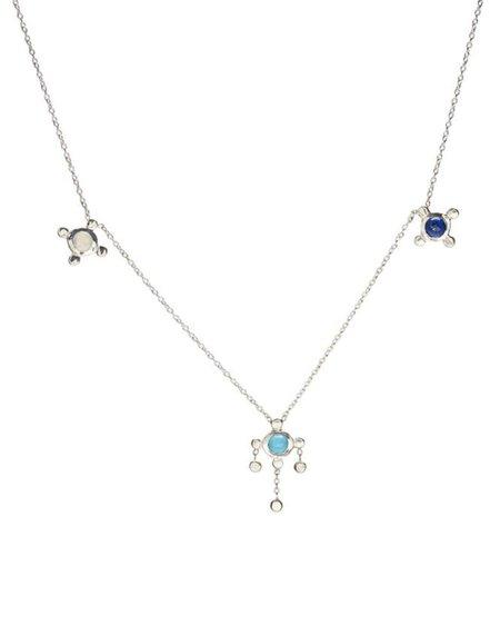 Scosha Trio Candy Necklace - Silver