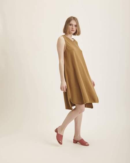 Revisited Matters Mesina Dress in Dark Gold