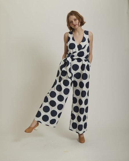 Gary Bigeni Noon Silk Jumpsuit