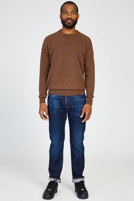 PRESIDENTS WASHED WOOL KNIT CREWNECK SWEATER - ROCK