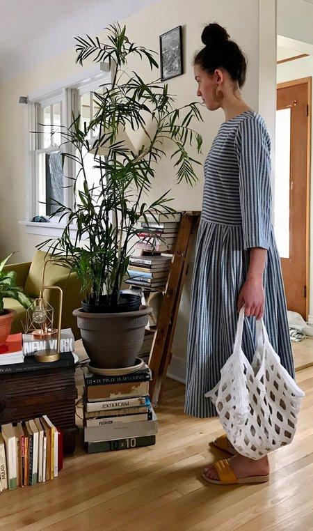 Lauren Manoogian Crochet Grid Bag in Optic White