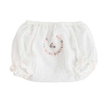 Kids Tocoto Vintage White Embroidered Bloomer