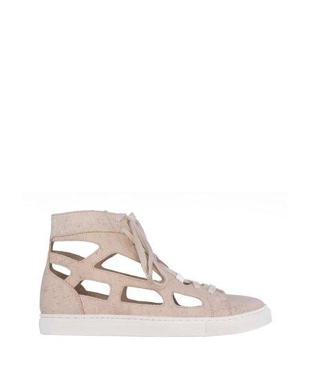 Sydney Brown Cutout High Sneaker Chalk