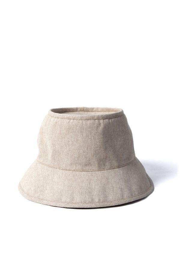 Tsuyumi Short Brim Block Top Linen