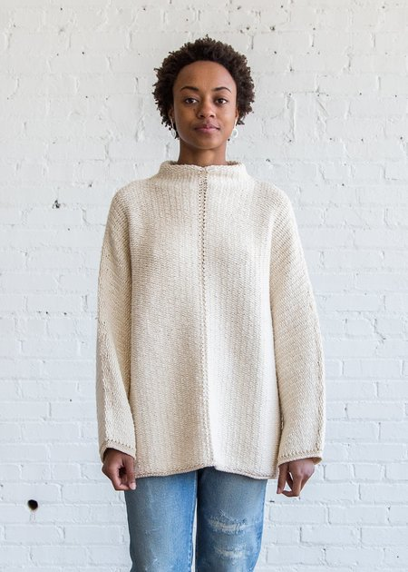 Lauren Manoogian Knit Weave Pullover Crudo/Ivory
