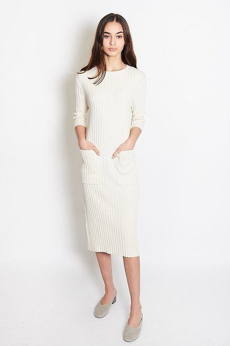 Mijeong Park Ribbed Midi Knit Dress