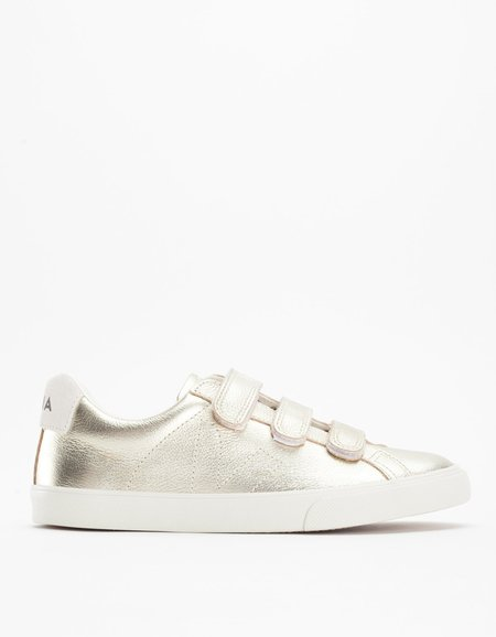 Veja Esplar 3 Locks Leather Sneaker - Gold