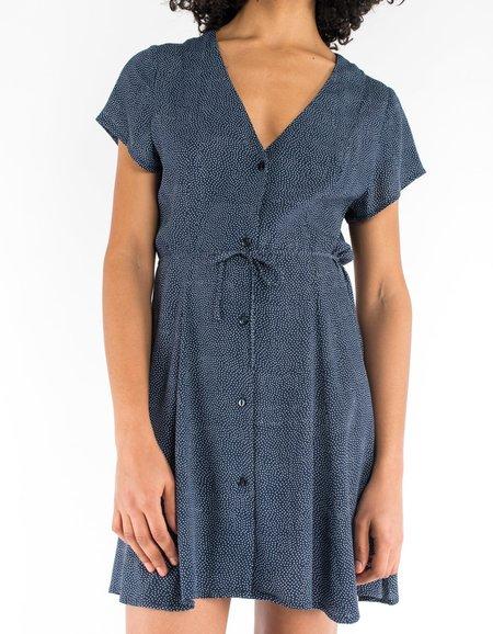 Rollas Milla Dress - Navy Mini Spot