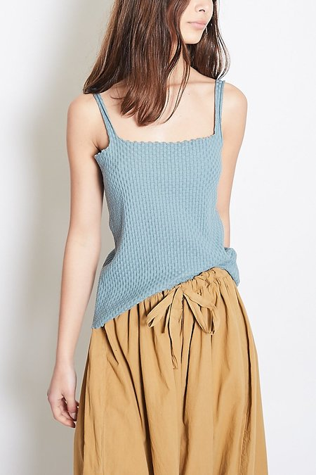 Revisited Matters Wicker Tank - Blue