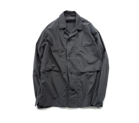 Still By Hand C/PE Shirt Jacket - Charcoal