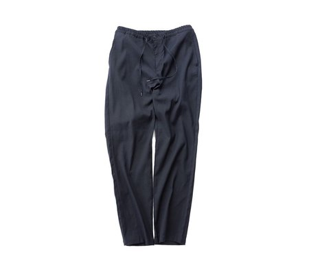 Still By Hand Jersey Easy Fit Trousers - Navy