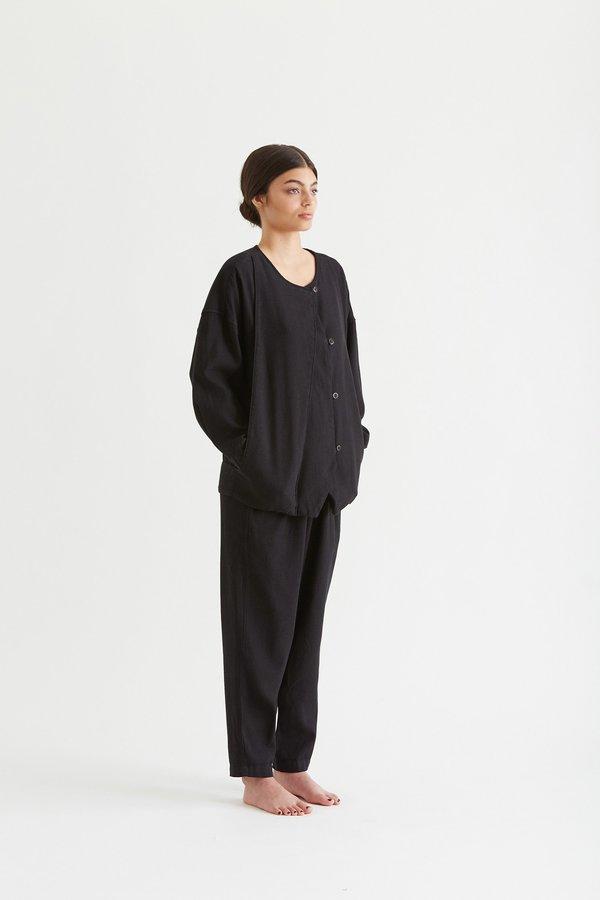 Black Crane Cotton Jacket