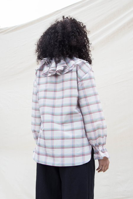 Nikki Chasin CARMELA BLOUSE - PRIMARY PLAID