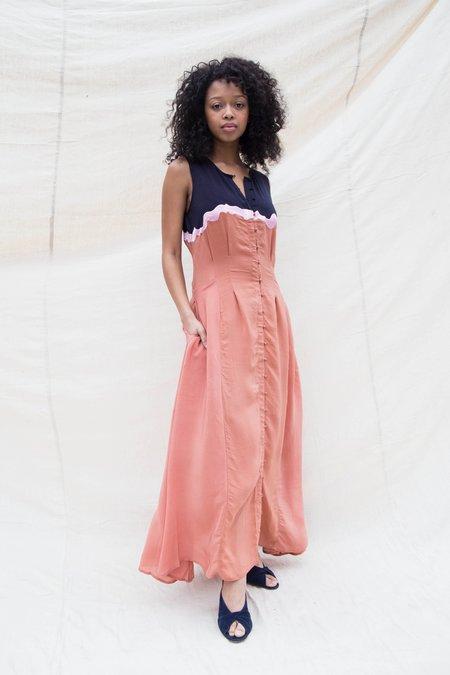 Nikki Chasin INGA DRESS - NAVY PECAN